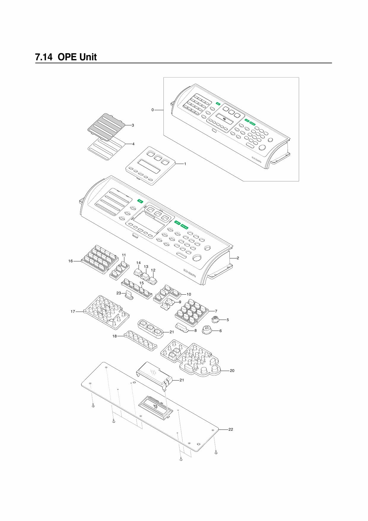 Samsung Digital-Laser-MFP SCX-5330 Parts Manual